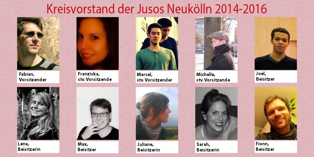 Vorstand der Jusos Neukölln 2014