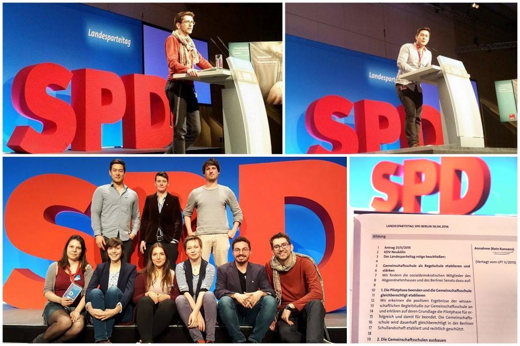Jusos Neukölln Landesparteitag SPD Berlin Fabian Fischer Marcel Hopp Delegation